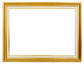 Golden frame elegance picture on white background Royalty Free Stock Images