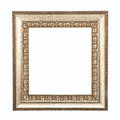 Golden frame isolated on white background. Royalty Free Stock Photography