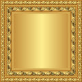 Golden frame with ornaments vector illustration Stock Image