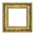 Golden frame with thick border Royalty Free Stock Photo