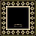 Golden frame vector illustration of a Royalty Free Stock Images