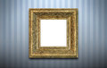 Golden frame on the wall Royalty Free Stock Photo