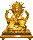 Golden ganesha made of real gold Stock Photography