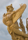 Golden garuda Stock Photo