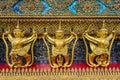 Golden garuda grand palace thailand Stock Photos