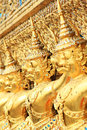 Golden Garuda statue in Wat Phra Kaew Stock Images