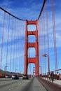 On the Golden Gate bridge
