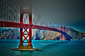 Golden gate bridge Fotos de Stock Royalty Free