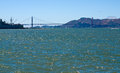 Golden gate bridge as seen from pier in san francisco california usa Royalty Free Stock Photography