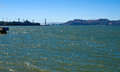 Golden gate bridge as seen from pier in san francisco california usa Stock Photos