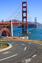 Golden Gate Bridge Bike Path Royalty Free Stock Photo