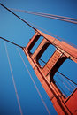 Golden Gate Bridge cables Stock Photography
