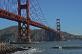 Golden Gate Bridge-Dude That's My Ride-San Francisco Landscapes Royalty Free Stock Photo