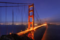 Golden Gate Bridge in fog , San Francisco Royalty Free Stock Photo