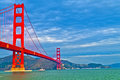 Golden Gate Bridge at Fort Point Stock Image