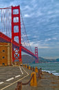 Golden Gate Bridge at Fort Point Royalty Free Stock Photos