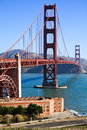 Golden Gate Bridge and Fort Point Royalty Free Stock Photo