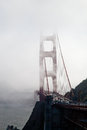 Golden gate bridge in the mist san francisco bay Royalty Free Stock Image