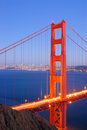 Golden Gate Bridge, North Tower Royalty Free Stock Photo