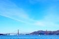 Golden Gate Bridge over the bay in San Francisco, California Royalty Free Stock Photo