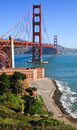 Golden Gate Bridge and The Presidio Royalty Free Stock Photo