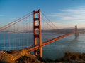 Golden gate bridge with san francisco background late afternoon Royalty Free Stock Images
