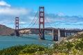 The Golden Gate Bridge in the San Francisco Bay Royalty Free Stock Photo