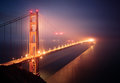 Golden gate bridge in san francisco the fog Royalty Free Stock Photo