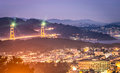 Golden Gate Bridge - San Francisco by Night Stock Photography