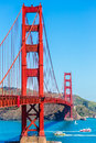 Golden gate bridge san francisco from presidio california in usa Stock Photos