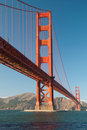 The Golden Gate Bridge in San Francisco sunset Stock Photography