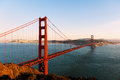 The golden gate bridge of san francisco at sunset Royalty Free Stock Photography
