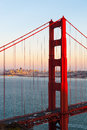 The golden gate bridge of san francisco at sunset Stock Photography
