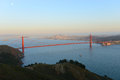 Golden gate bridge san francisco usa with city skyline at back ground california Stock Photos