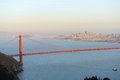Golden gate bridge san francisco usa with city skyline at back ground california Royalty Free Stock Images