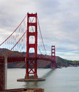 Golden gate bridge san francisco a view of the in Royalty Free Stock Photo