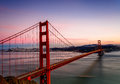 Golden Gate Bridge at Sunset Royalty Free Stock Photo