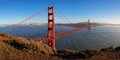 Golden gate bridge at sunset san francisco panoramic view of california usa Stock Image