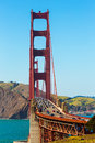 Golden Gate Bridge traffic in San Francisco California Royalty Free Stock Photo