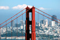 Golden Gate Bridge and Transamerica Building Stock Images