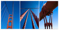 Golden gate compilation Stock Images