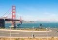 Golden gate em san francisco trajeto da bicicleta Imagens de Stock Royalty Free
