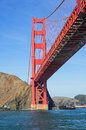 Golden gate in san francisco the worldfamous california Royalty Free Stock Photography