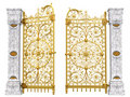 Golden gates and columns Royalty Free Stock Photo