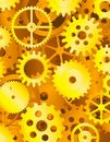 Golden gear background Royalty Free Stock Photos