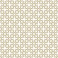 Golden geometric seamless pattern. White and gold floral ornament.