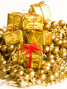 Golden gifts Royalty Free Stock Images