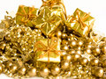 Golden gifts Stock Image