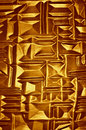 Golden glass detail abstract surface in the background Royalty Free Stock Photography