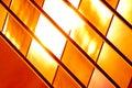 Golden glass pattern